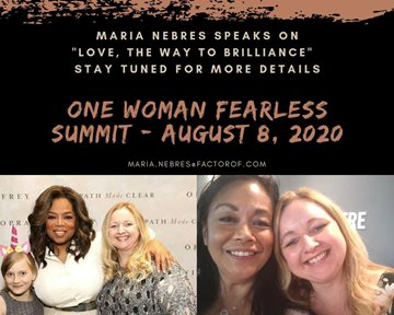 🔥 UPCOMING EVENT 🔥 Maria speaks for One Woman Fearless Summit - August 2020
